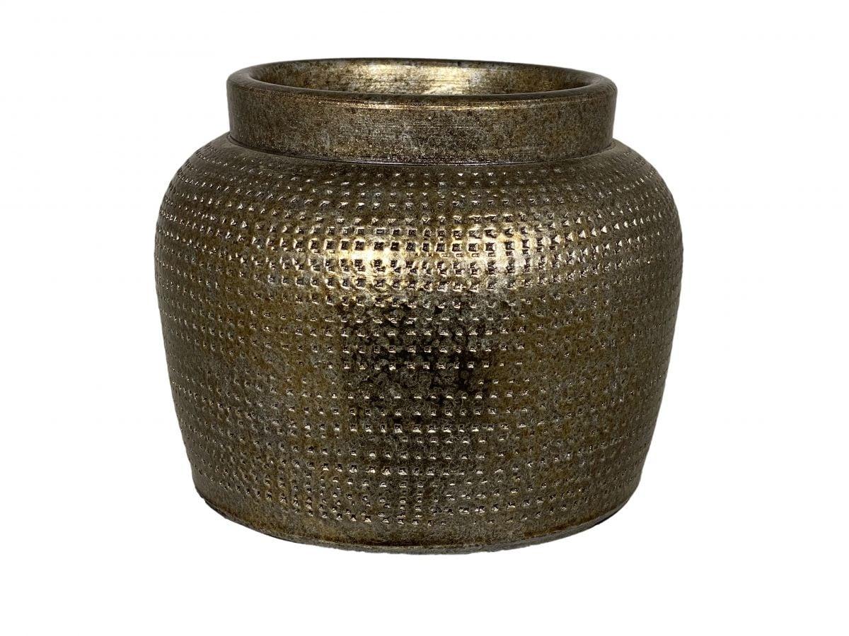 pot marrakesh d24h21cm zilver goud