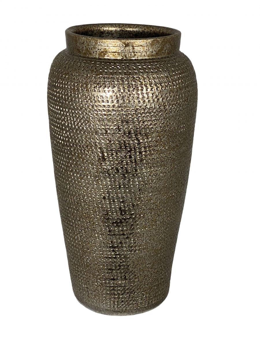 vaas marrakesh d18h35cm zilver goud