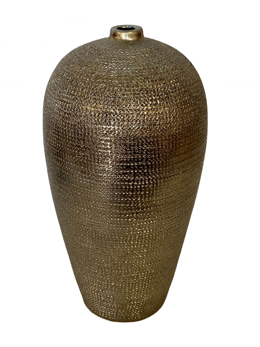 fles marrakesh d19h37cm zilver goud