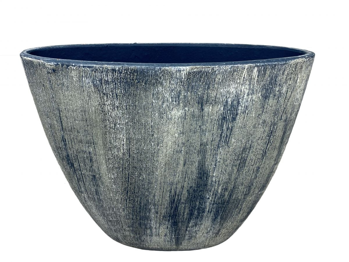 ovaal miami l39d20h31cm blauw cement