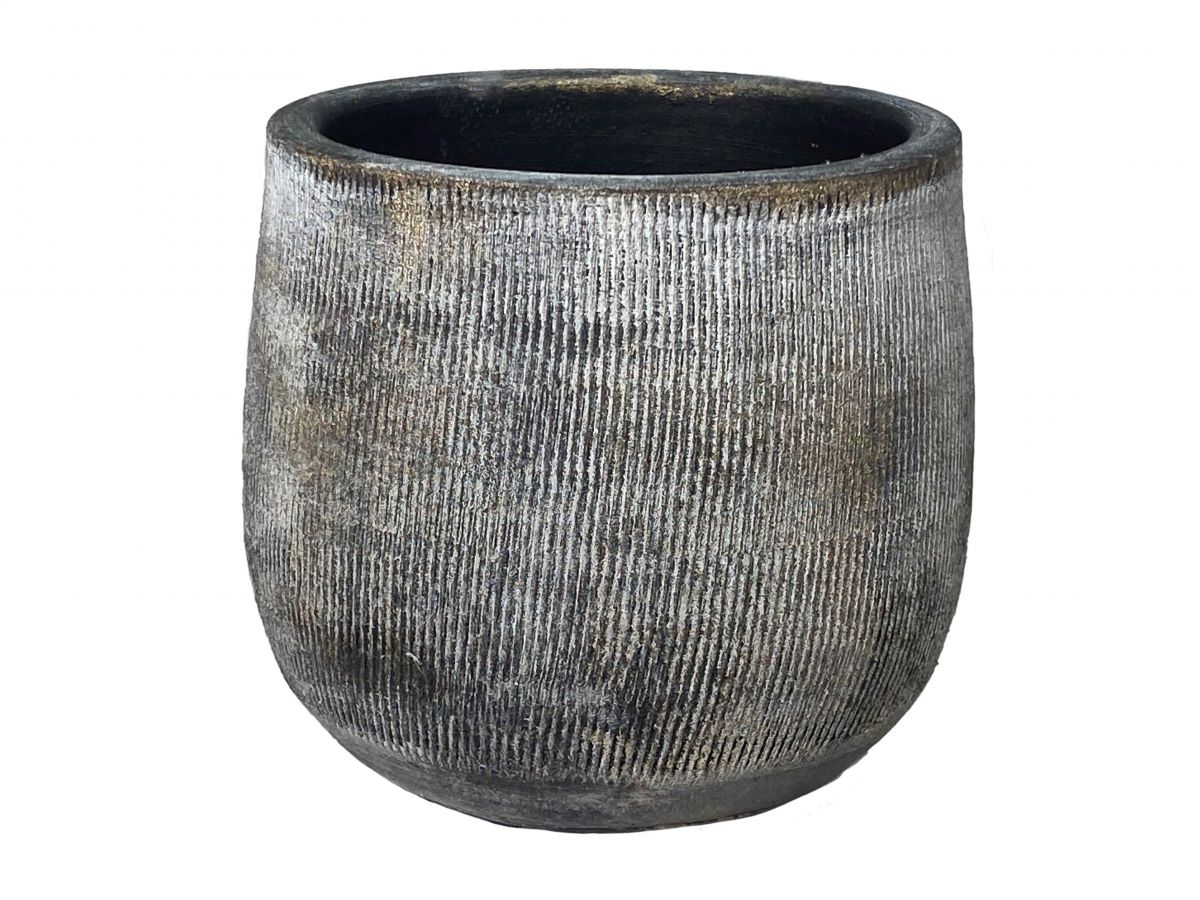 pot miami d16h14cm zwart cement
