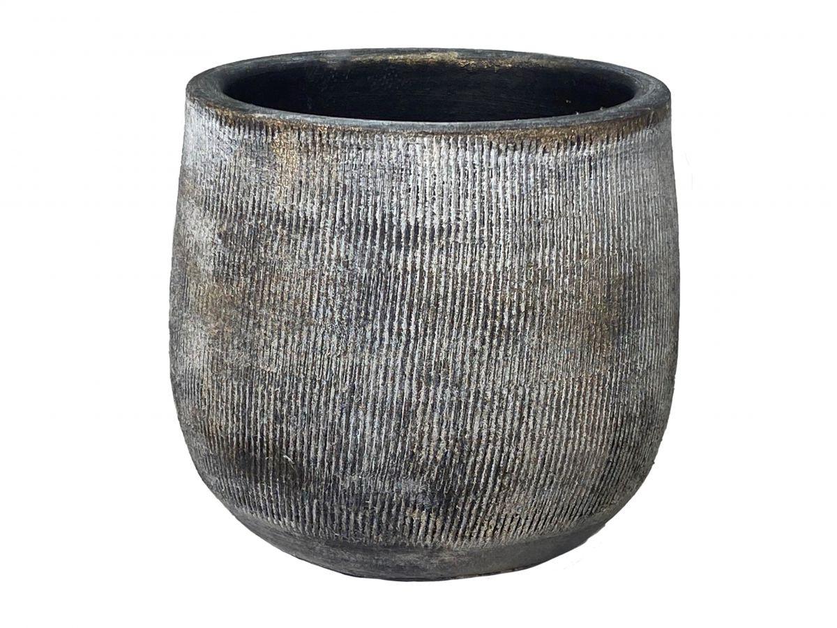 pot miami d33h31cm zwart cement