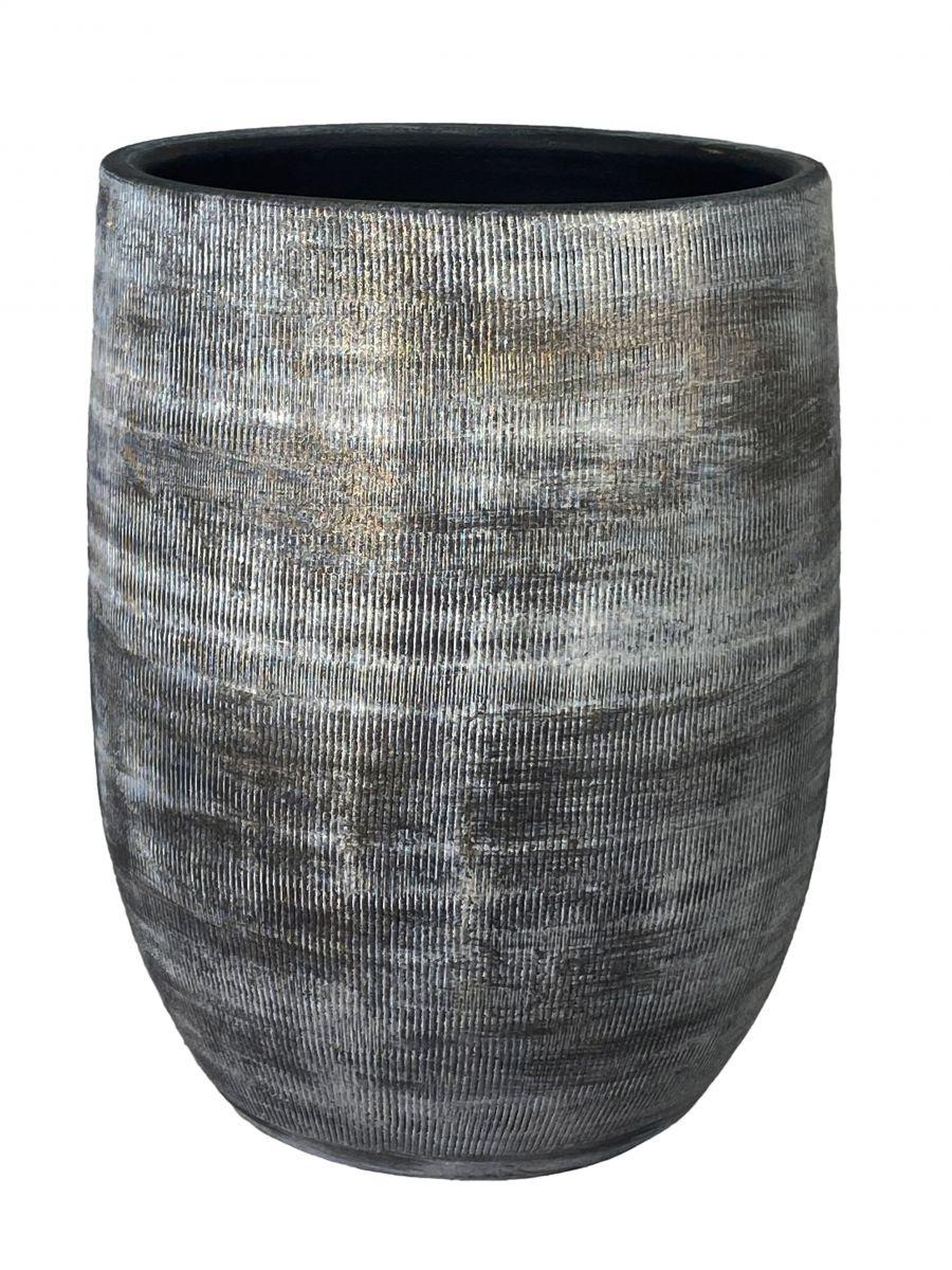 vaas miami d23h30cm zwart cement