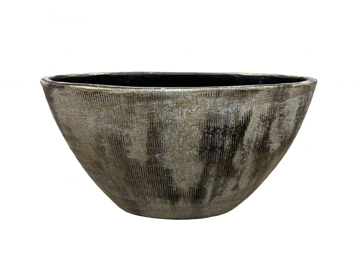 ovaal miami l41d19h22cm zwart cement