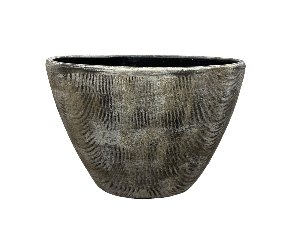 ovaal miami l39d20h31cm zwart cement