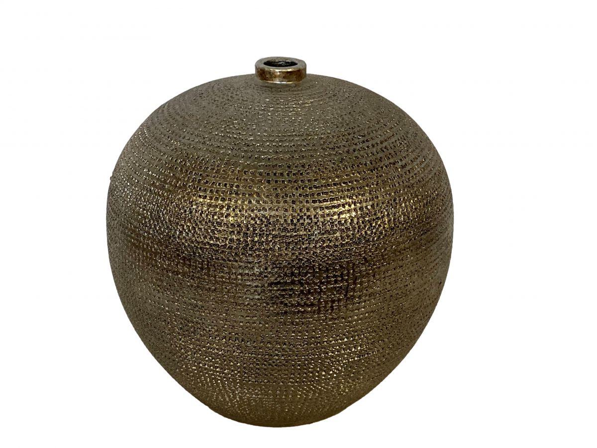 fles marrakesh d26h20cm zilver goud