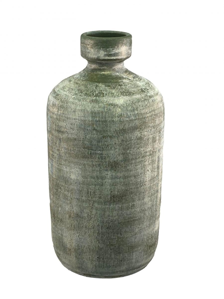 fles miami d 19 h 40 cm groen cement