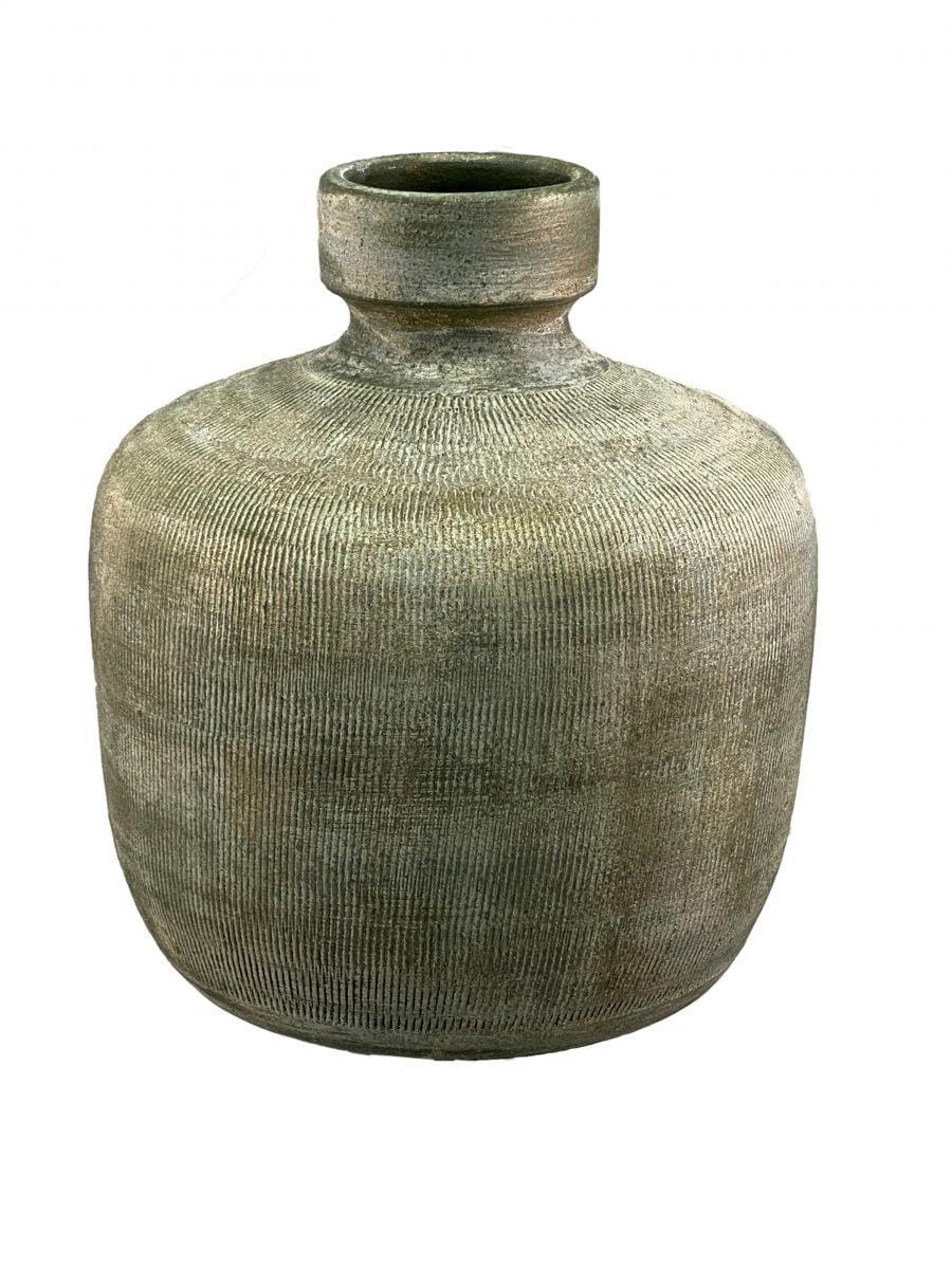 fles miami d 22 h 24 cm groen cement