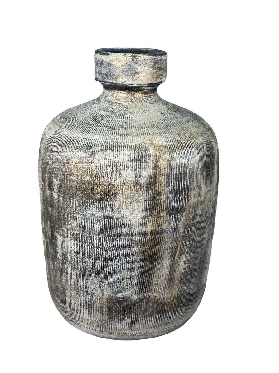 fles miami d 22 h 33 cm zwart cement