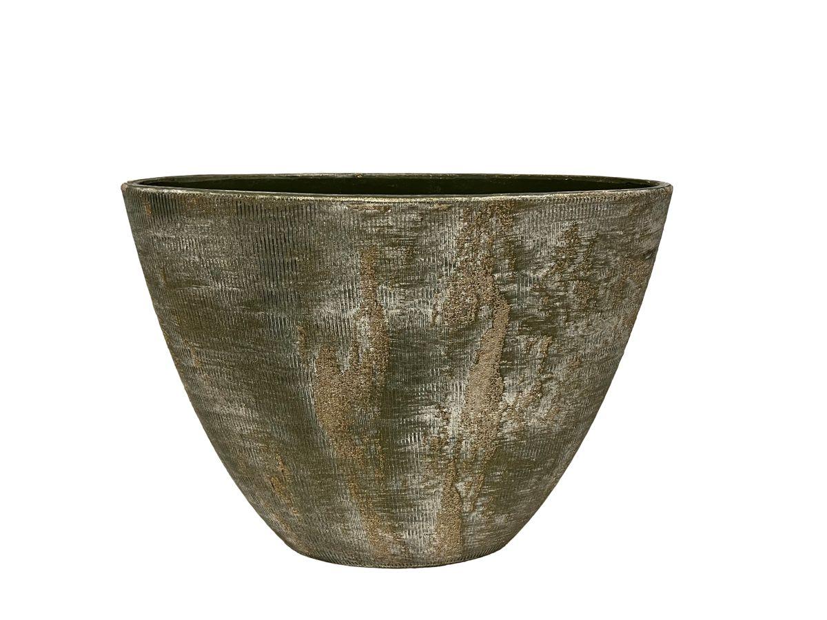 ovaal miami l33d13h24cm groen cement