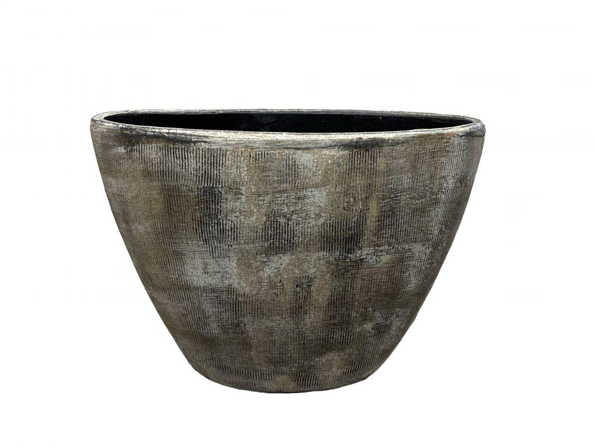 ovaal miami l33d13h24cm zwart cement