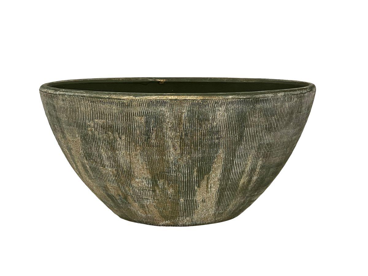 ovaal miami l35d16h19cm groen cement
