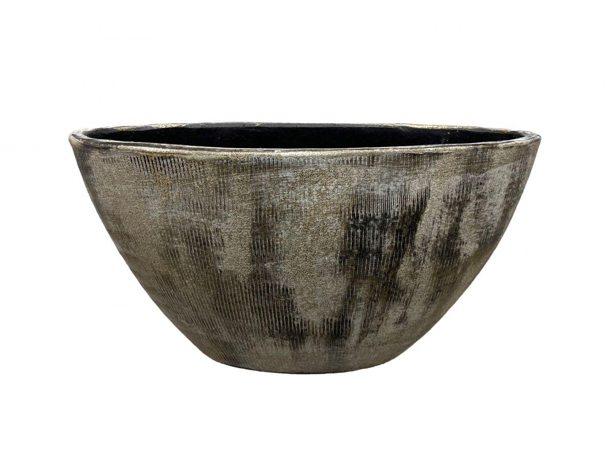 ovaal miami l35d16h19cm zwart cement