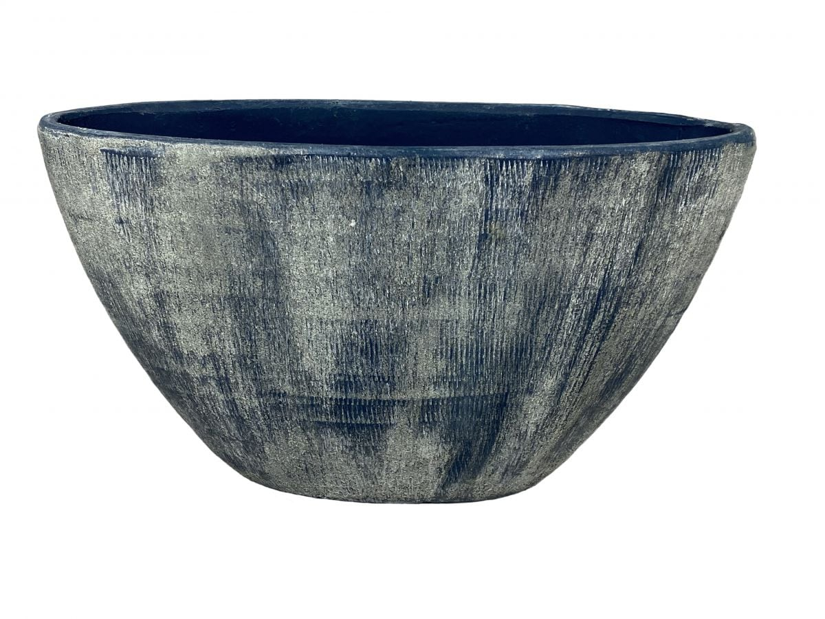 ovaal miami l41d19h22cm blauw cement