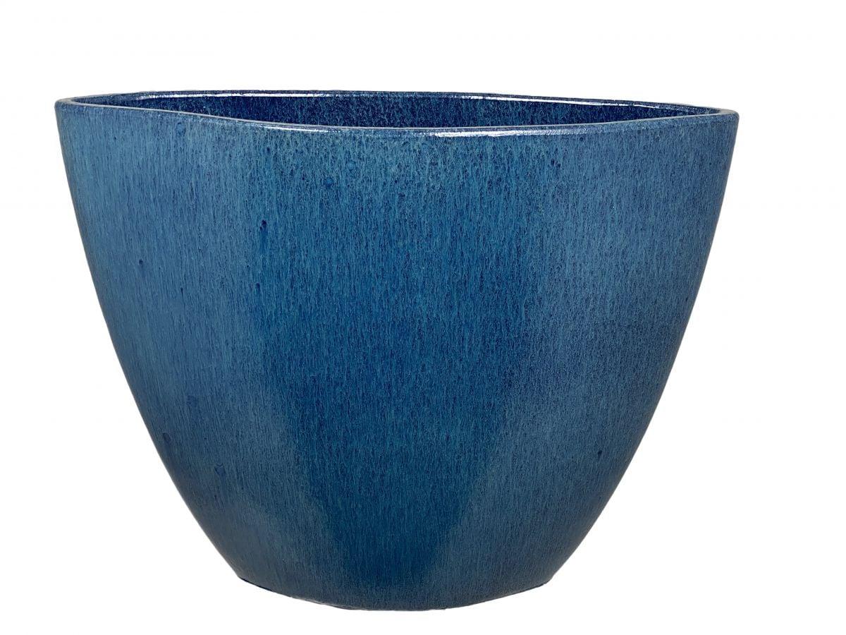 ovale bak petra l45d18h34cm blauw