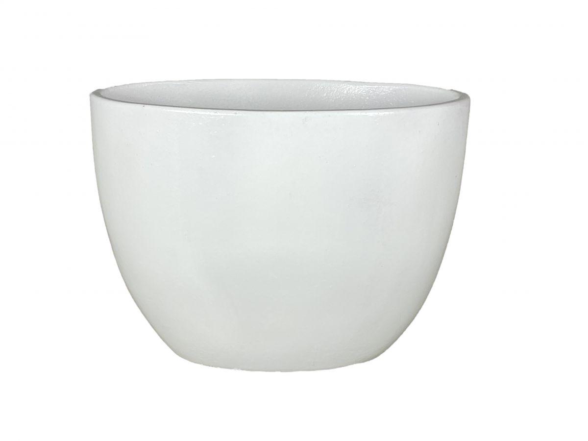 ovale bak porto hoog l 49 d 23 h 36 cm wit
