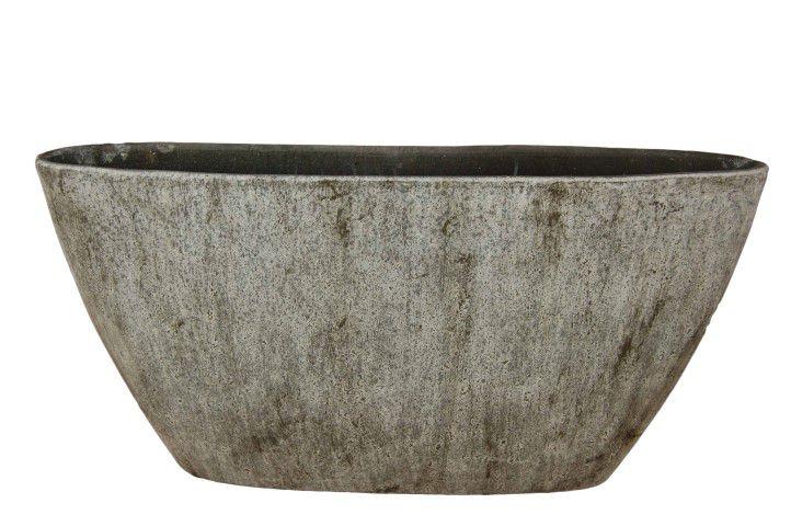 ovale boot corona l73d17h36 grijs cement