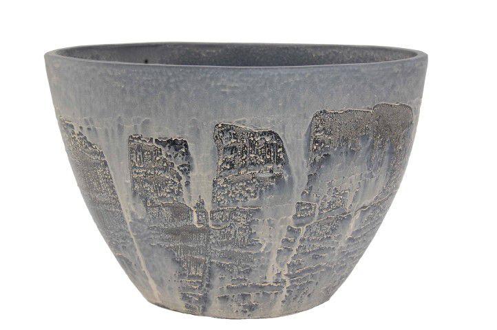 ovale pot antas b47d24h36cm antiek zwart