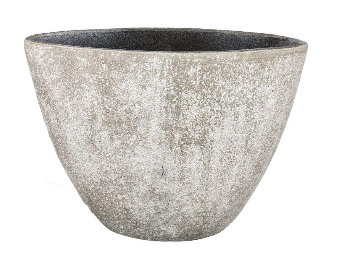 ovale pot palermo hoog h37l49d21cm bruin cement