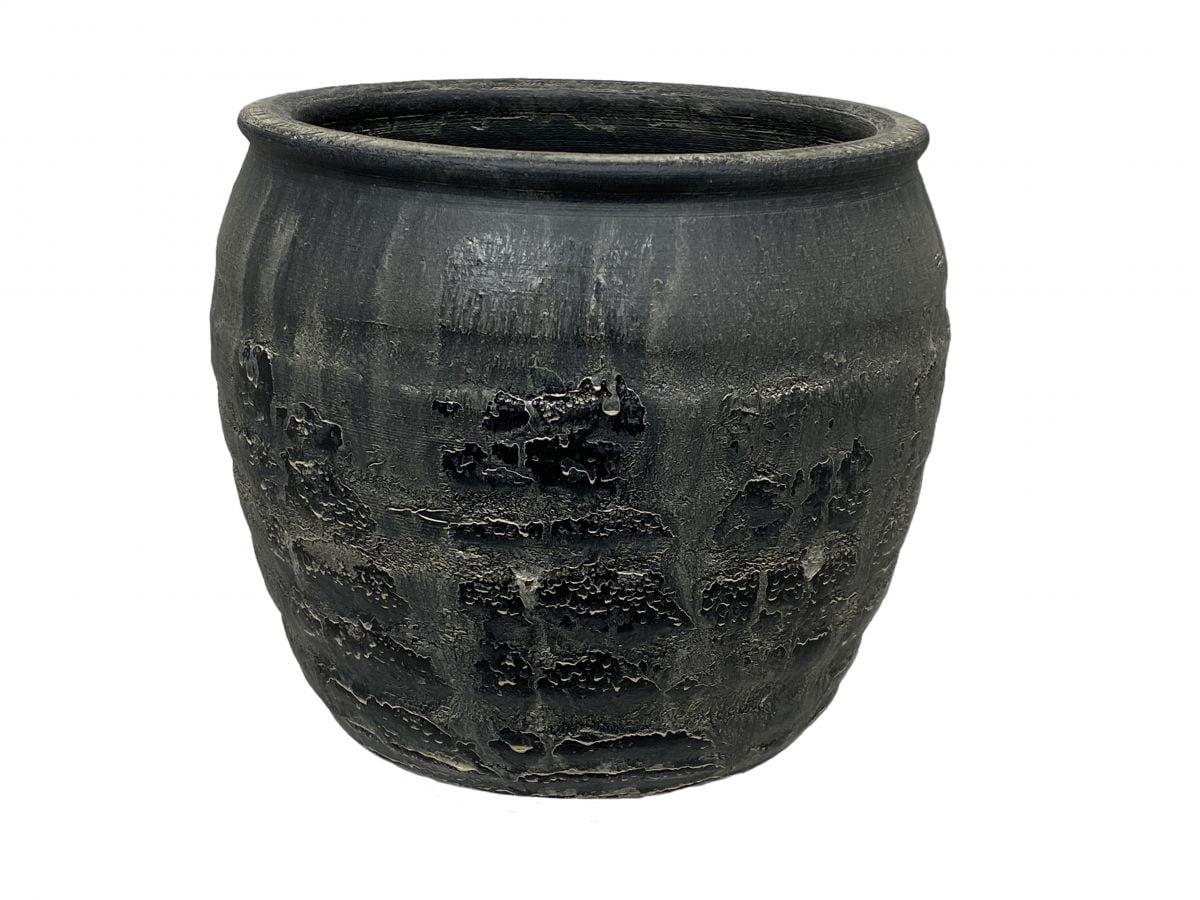 pot antas d39h32cm antiek zwart
