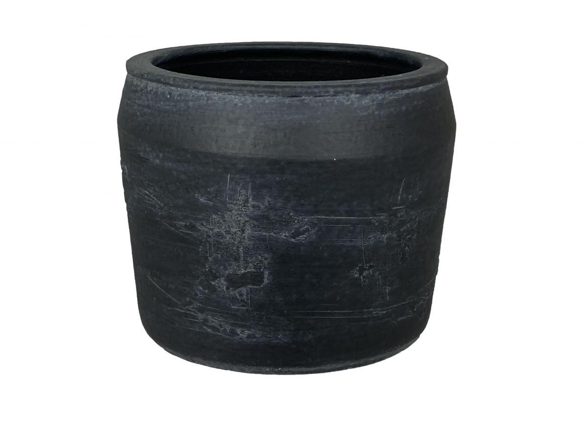 pot bilbao d22h18cm zwart