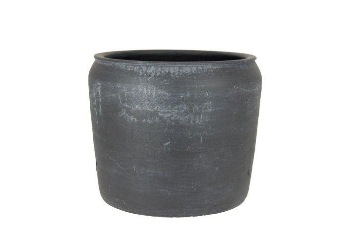 pot bilbao d33h29cm zwart
