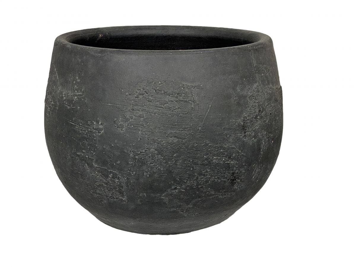 pot burgos d20h15cm zwart