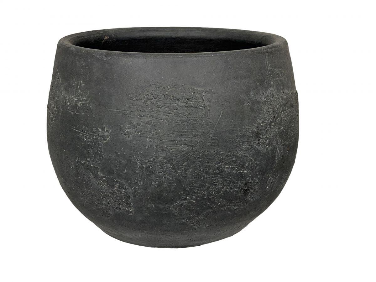 pot burgos d22h17cm zwart