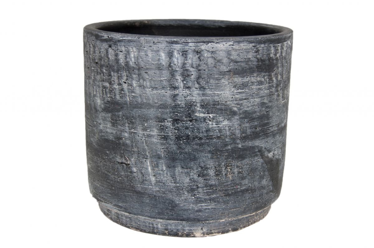 pot madrid d19h17cm zwart
