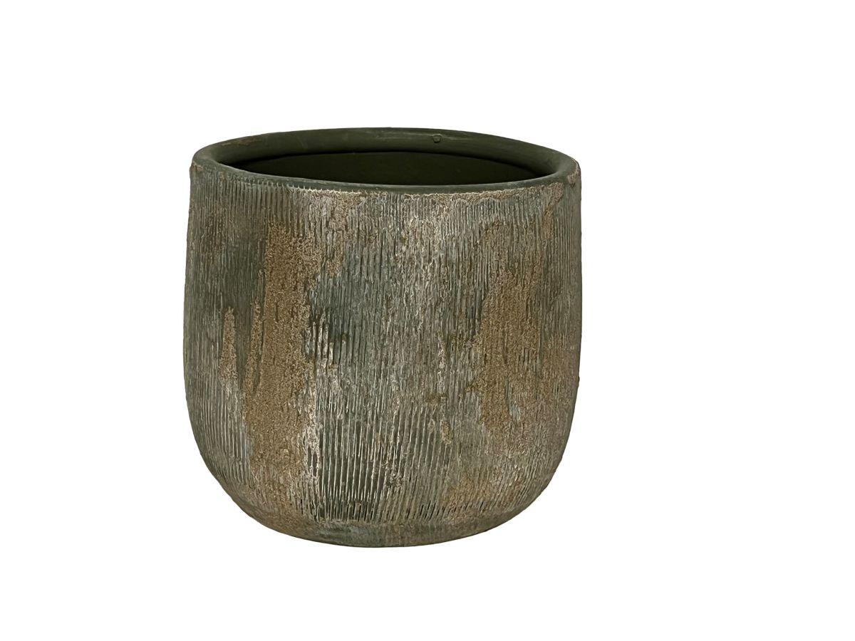 pot miami d33h31cm groen cement