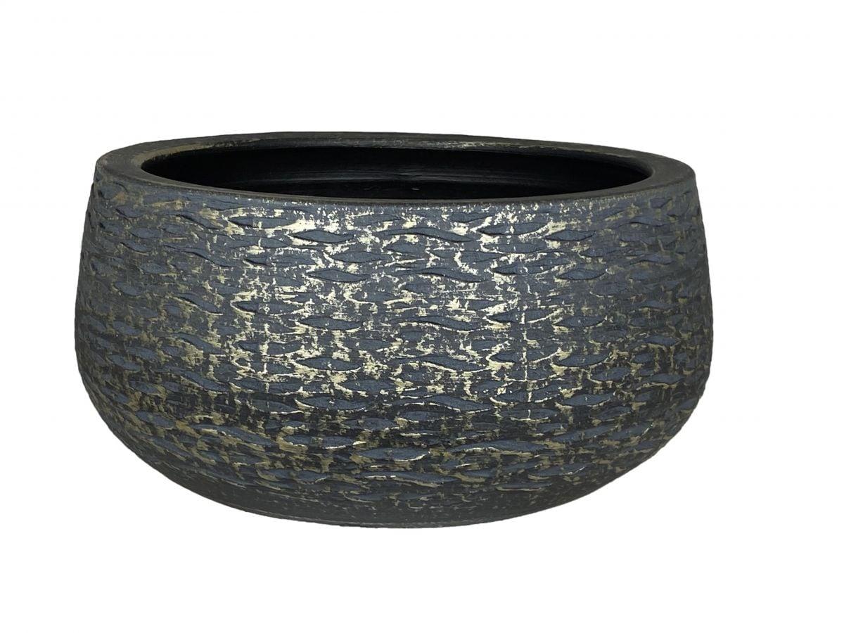 schaal lissabon d29h14cm zwart