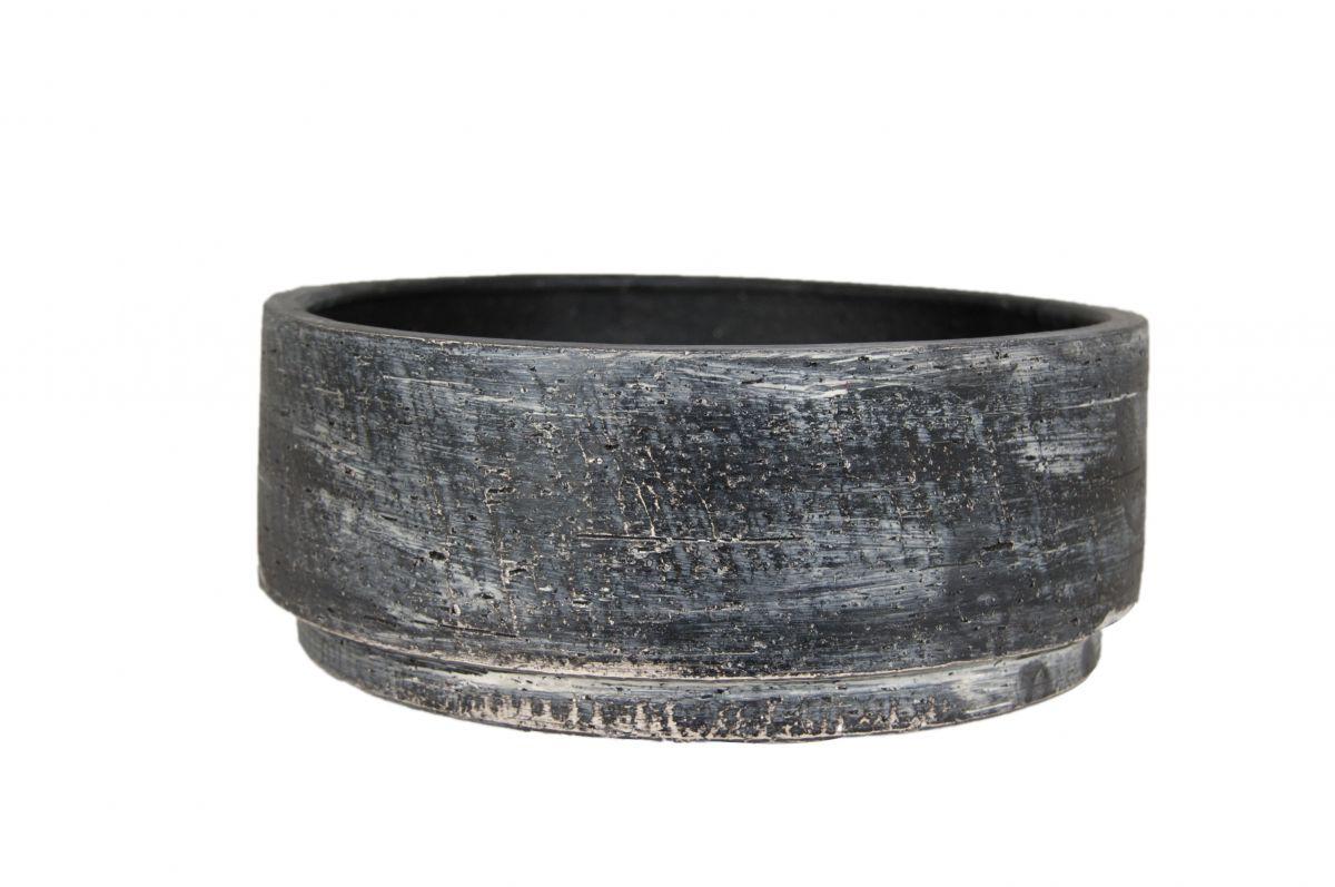 schaal madrid d24h9cm zwart