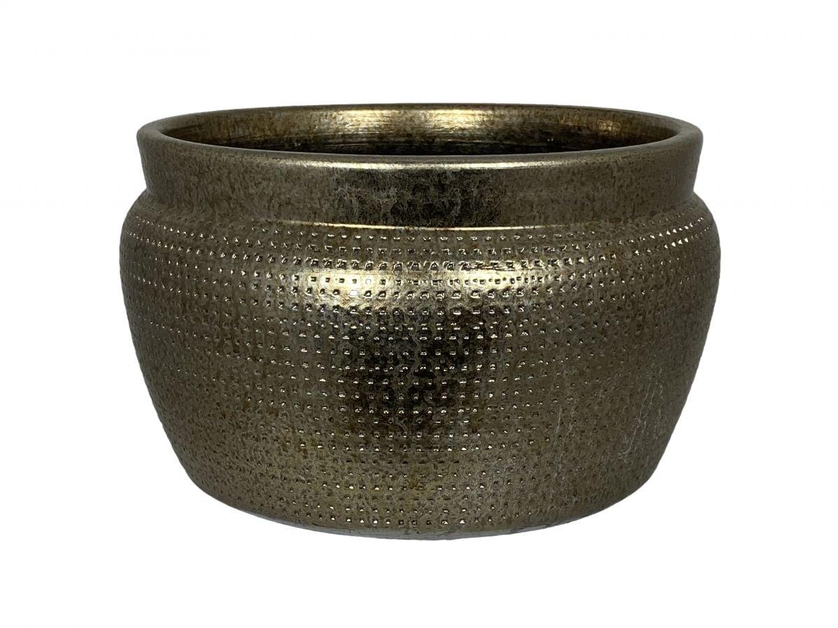 schaal marrakesh d24h14cm zilver goud