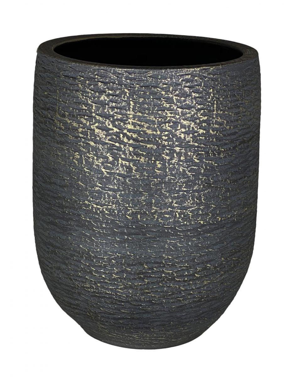 vaas lissabon d26h40cm zwart
