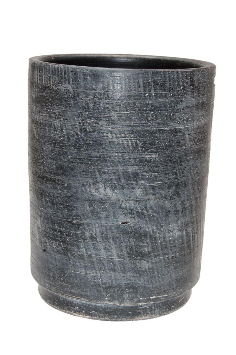 vaas madrid d25h35cm zwart