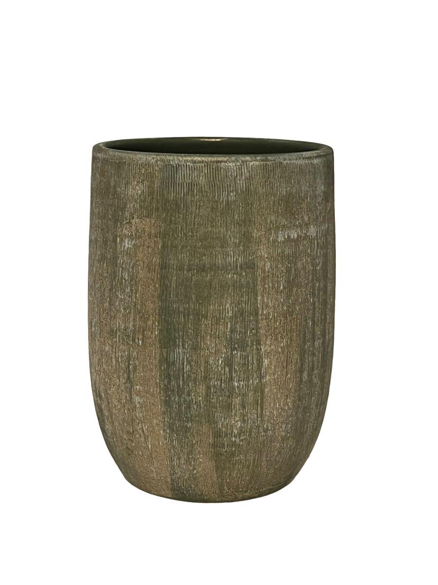 vaas miami d29h50cm groen cement